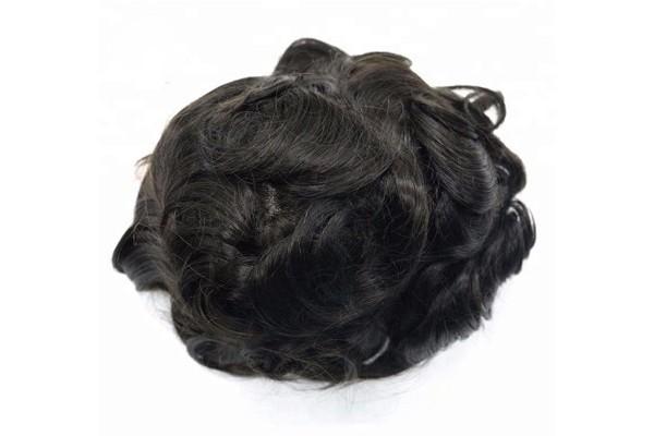TODO o sistema de substituição de cabelo de renda francesa para homens