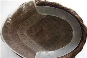 Laço francês indetectável com sistema de cabelo de peruca Poly