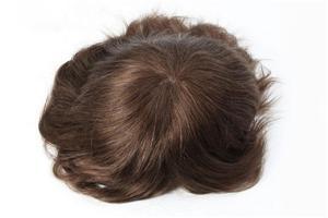قاعدة الدانتيل الفرنسي رقيقة جدا الجلد الخلفي نظام الشعر