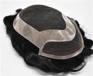 Mono With Scallop Skin Gauze Perimeter Hairpieces For Men