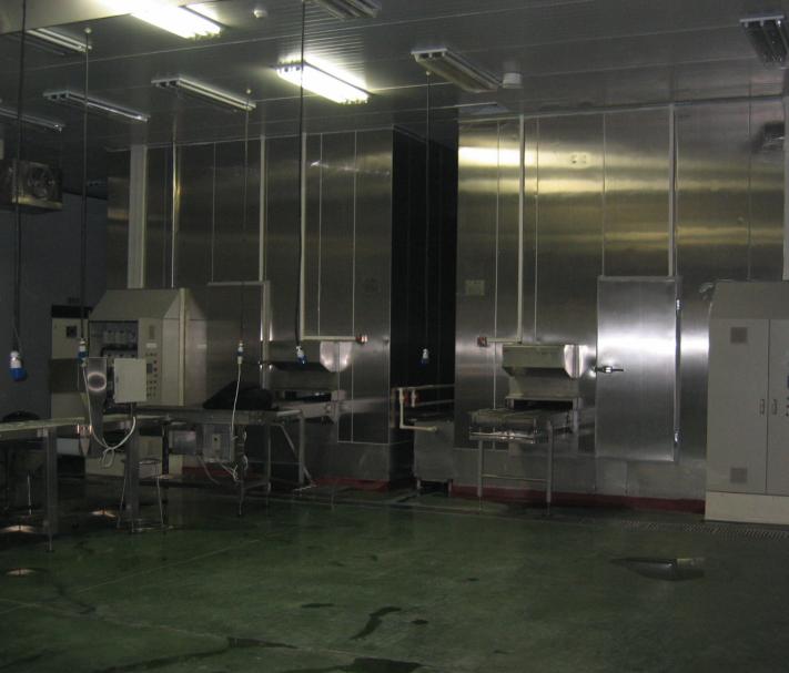 Zamrażarka spiralna 500 kg / h -1500 kg / h
