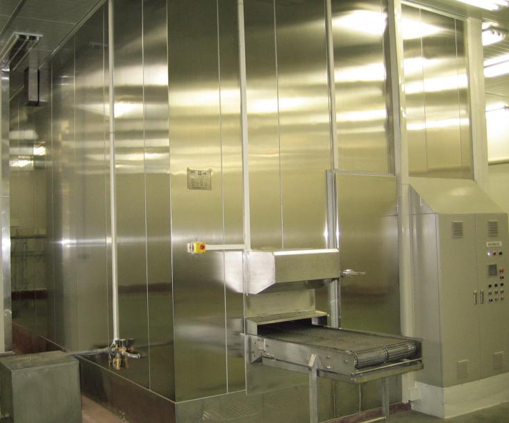 Nagy termelékenység 2000 kg / h spirál fagyasztó IQF