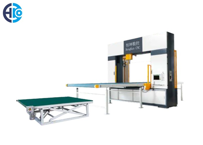 CNC Vertical Revolving Blade And Horizontal Oscillating Blade Cutting Machine