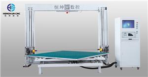 Cortadora de cuchilla oscilante horizontal CNC con mesa giratoria