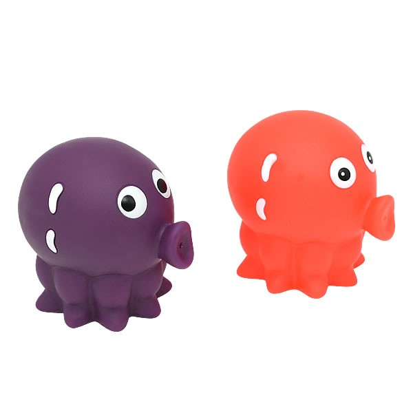 Hot Selling Purple Octopus Hoopla Baby Bathtime Kid Fun Bath Toy