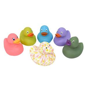 Cute Rubber Yellow Duck Baby Bath Toy with your logo