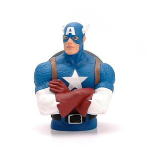 Marvel Plastic Captain American Money Bank para la promoción