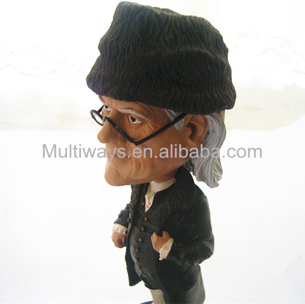 Resin bobble head figure