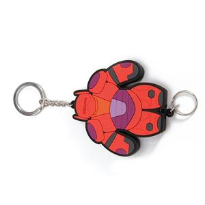 Promotional Cheap Giveaway Gift 2D Plastic Keychain With Metal Ring