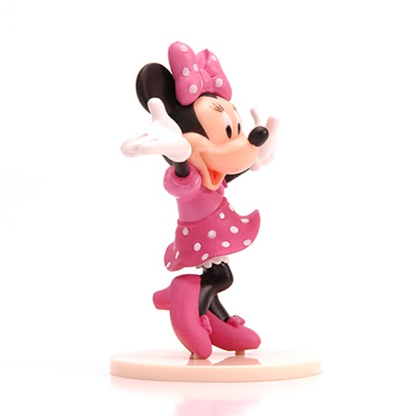 Venda quente Plástico 3D Disney Minnie Figura Toy