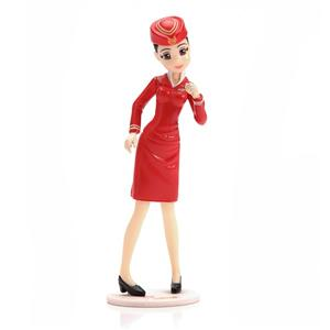 Custom Beautiful Plastic Air Hostess Action Figure