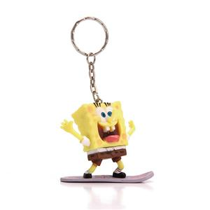 Hot Sell Plastic Promotional Sponge Bob Keychain
