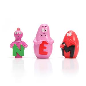 Eco-friendly Cute Soft Plastic Letters Leaning Figure Kids Educational Toys