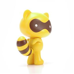 OEM Yellow Cute Plastic Cat Animal Cartoon Action Figure
