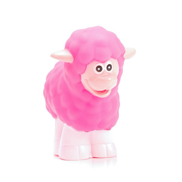 Customized Plastic Vinyl Cute Pink Animal Sheep Bath Toy
