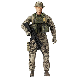 DIY Military Handsome Healthy Material Plastic Action Figure