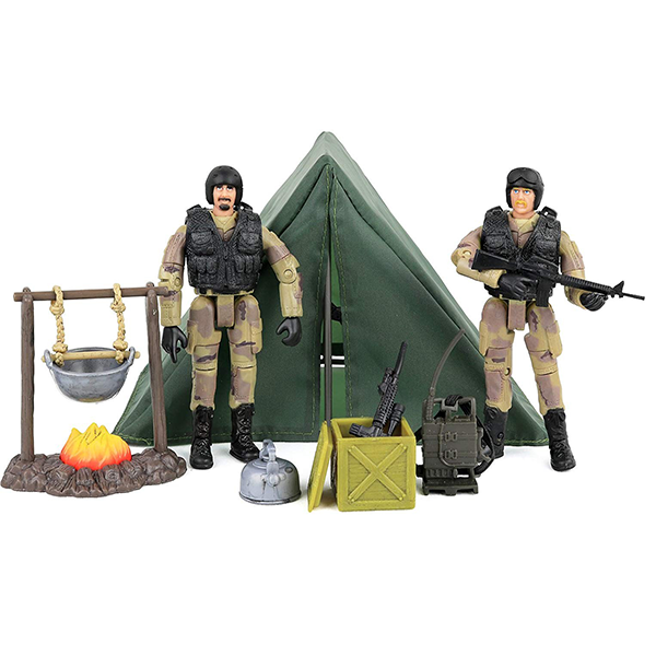 Most Popular PVC Military Solider Figure Military Toys With Weapon