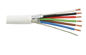 Shielded stranded copper cable