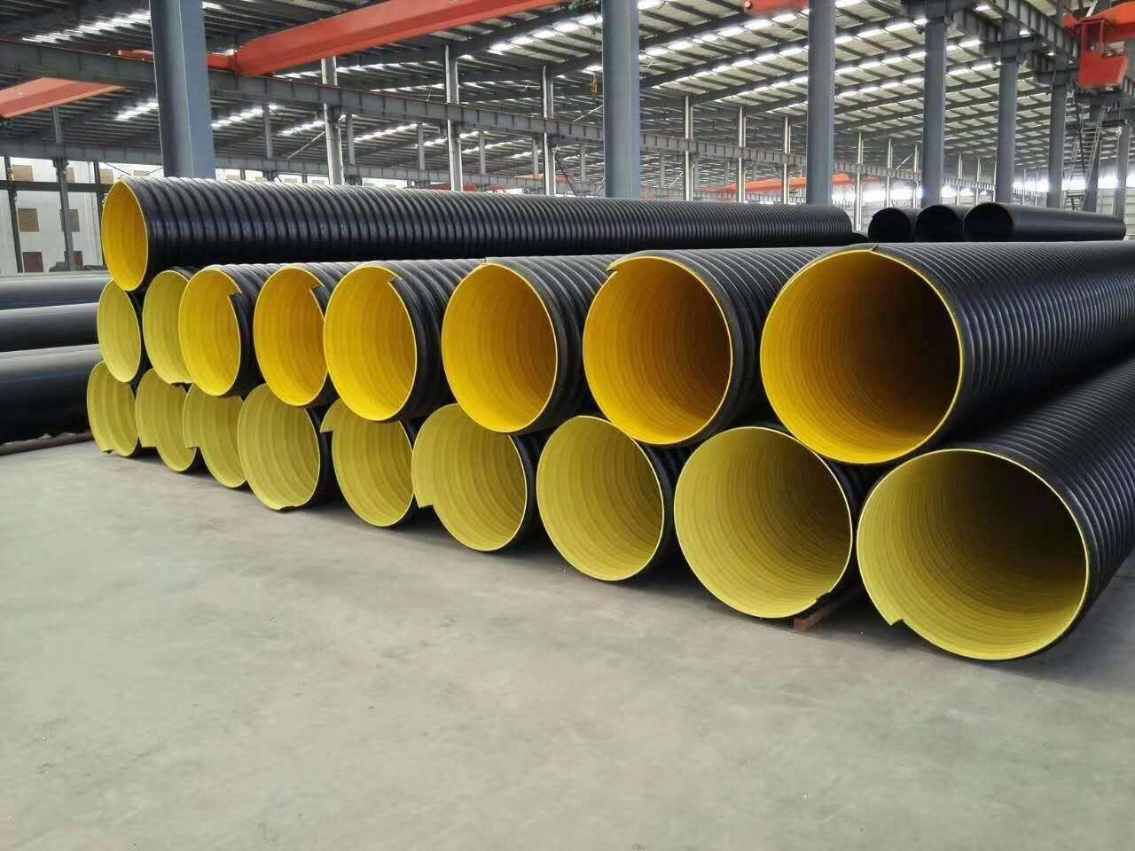 hdpe steel belt pipe