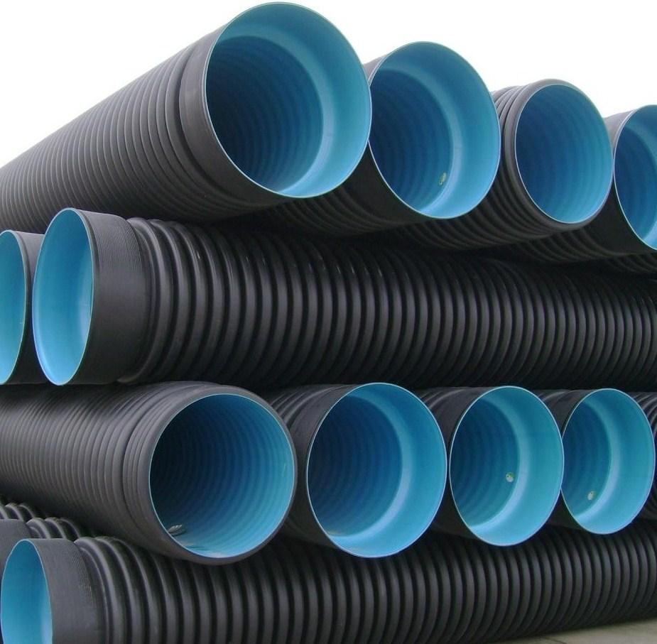 Tubo corrugado de parede dupla HDPE Tubo de drenagem PE