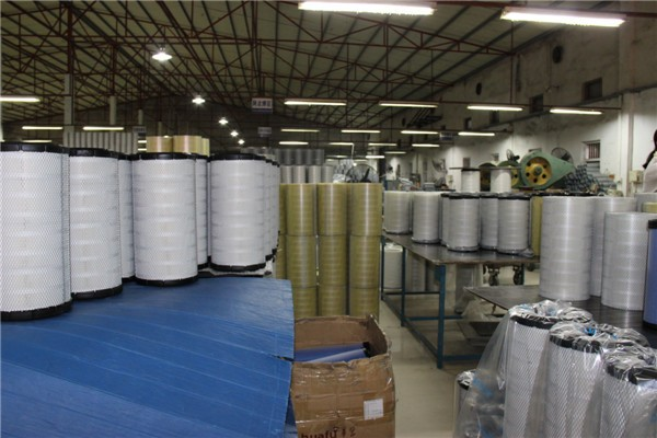 Air filter production line.