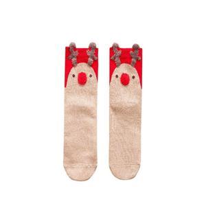 Chaussettes de Noël stéréoscopiques personnalisées vintage de style Harajuku avec renne