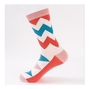 Customized Personalized British Style Couple Contrast Wavy Socks