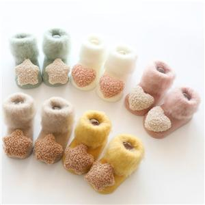 Velvet Thick 3D Doll Furry Baby Anti-skid Socks