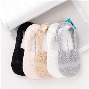 Shallow Mouth Lace Silicone Non-slip Invisible Socks
