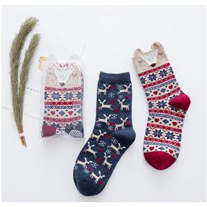 Stereo Cartoon Animal Creative Boxed Story Women Socks