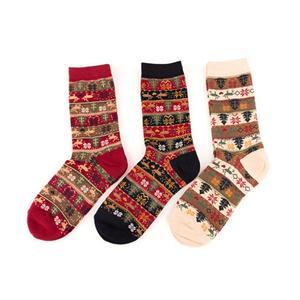 Harajuku Vintage Fawn Snowflake Christmas Stacking Socks