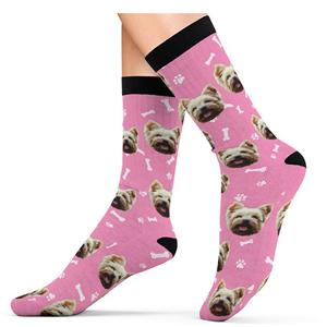 Customized Creative Wedding Face Double-sided Printing Socks