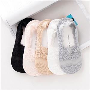 All-inclusive Lace Cotton Silicone Non-slip Invisible Socks