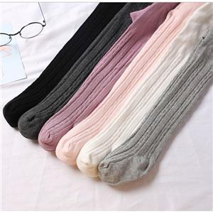 Personalized Funky Solid Color Knit Girl Pantyhose
