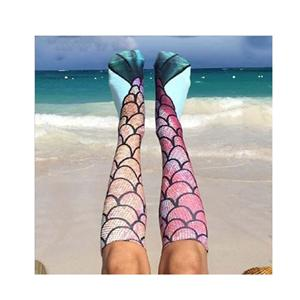 Personality Monogrammed Stylish Mermaid Pattern Stockings