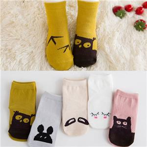Funky Combed Cotton Cartoon Non-slip Baby Socks