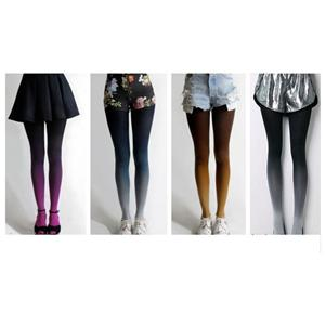 Personality Velvet Hanging Dyed Gradient Pantyhose