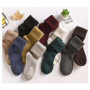Casual Funky Angora Wool Ladies Pile Socks