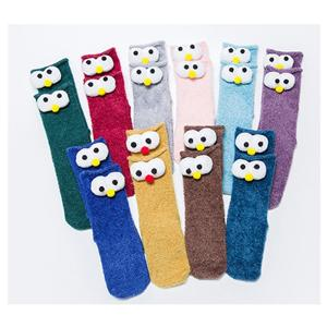 Cartoon Big Eyes mignon chaud bébé Chaussettes sol