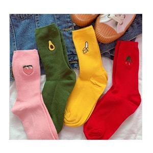 Ins Korean Academy Style Candy Avocado Women Socks