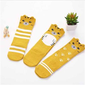 Striped Cartoon Combed Cotton Baby Christmas Stockings