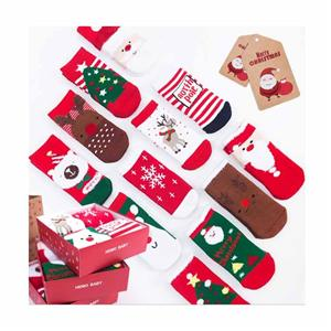Personalized Terry Padded Christmas Combed Cotton Baby Socks