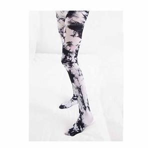 Personality Street Hip-hop Asymmetric Female Velvet Tie-dye Tights