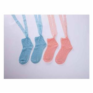 Personalized Stylish Elegent Solid Color Lace Women Socks