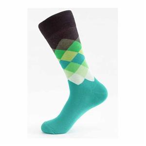 Kişiselleştirilmiş Şık Renkli Argyle Erkekler Tüp Çorap