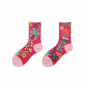 Creative Floral Letters Fashion Colorful Women Novelty Crew Socks