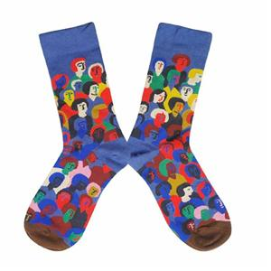 Personalized Don't Litter Street Face Jacquard Man Socks