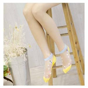 Personalized Fashion Cotton Bottom Crystal Silk Ladies Boat Socks