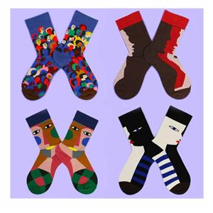 Vintage World Famous Painting Art Literature Tide Ladies Socks