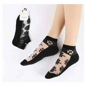Funky Crystal Silk Casual Clear Ladies Lace Stockings